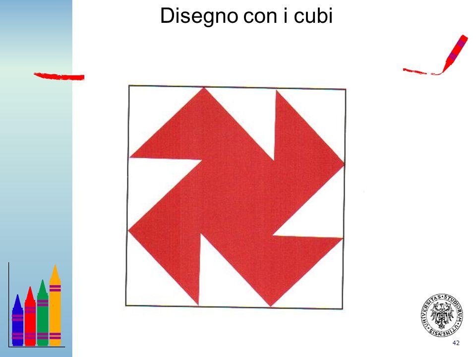 Disegno con i cubi