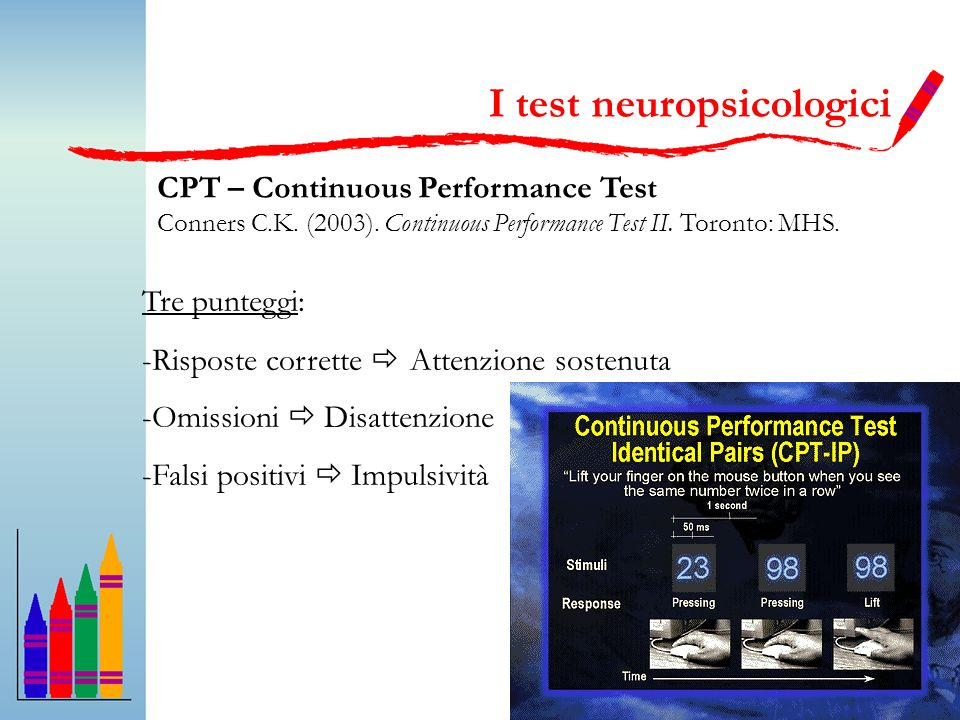 I test neuropsicologici