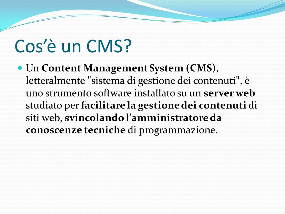 Cos'è un CMS