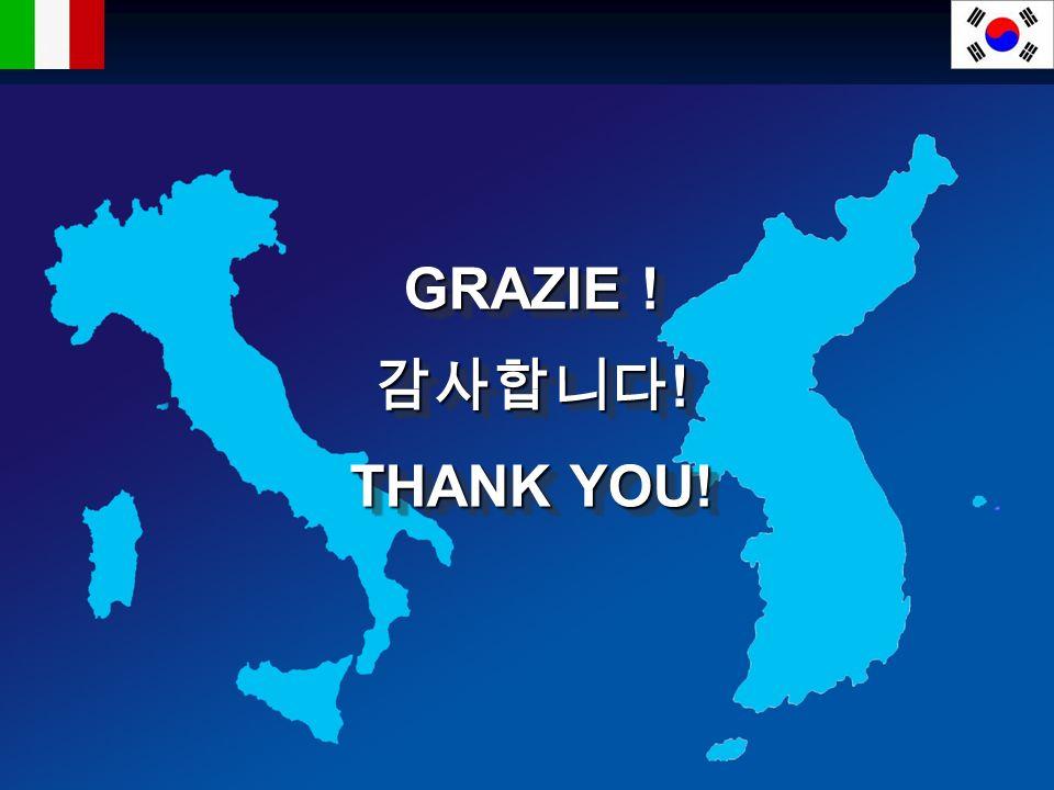 GRAZIE ! 감사합니다! THANK YOU! Thank you!