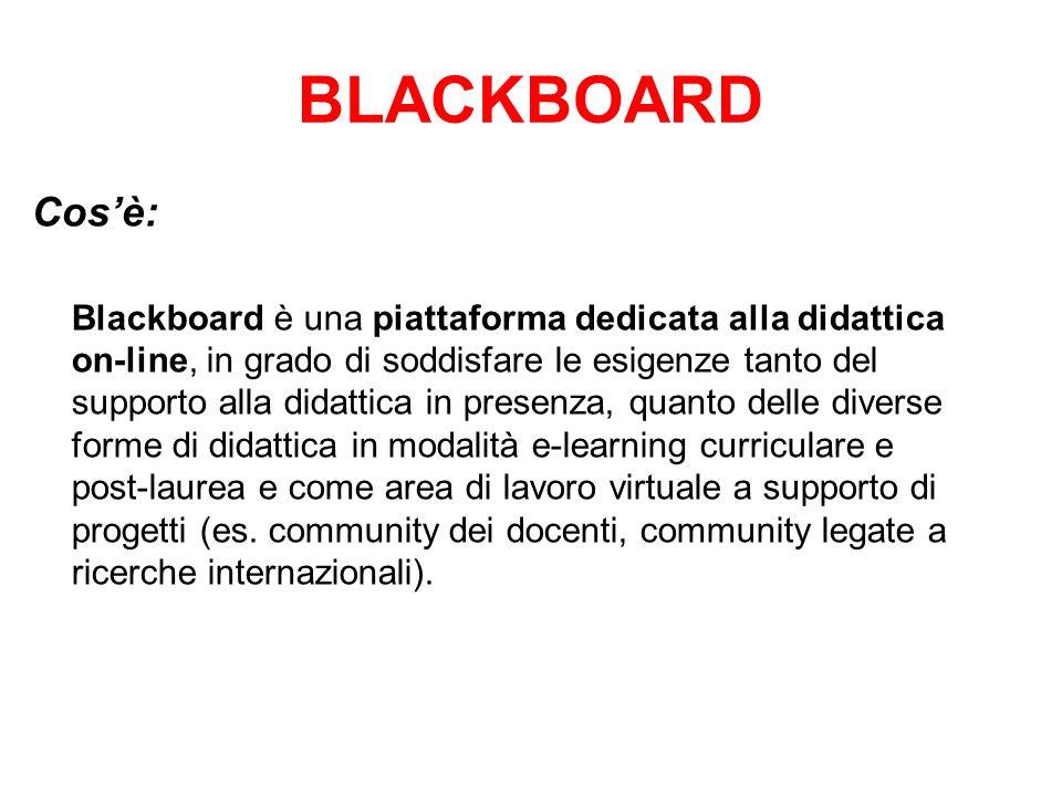 BLACKBOARD Cos'è: