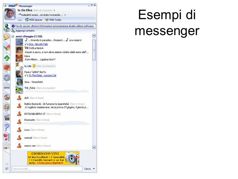 Esempi di messenger