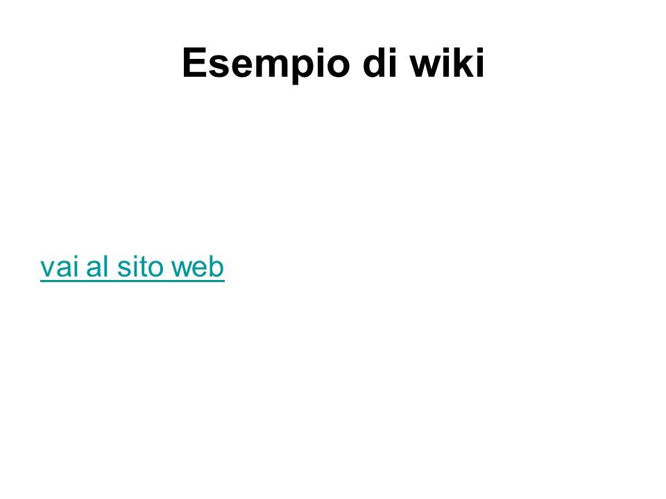 Esempio di wiki vai al sito web