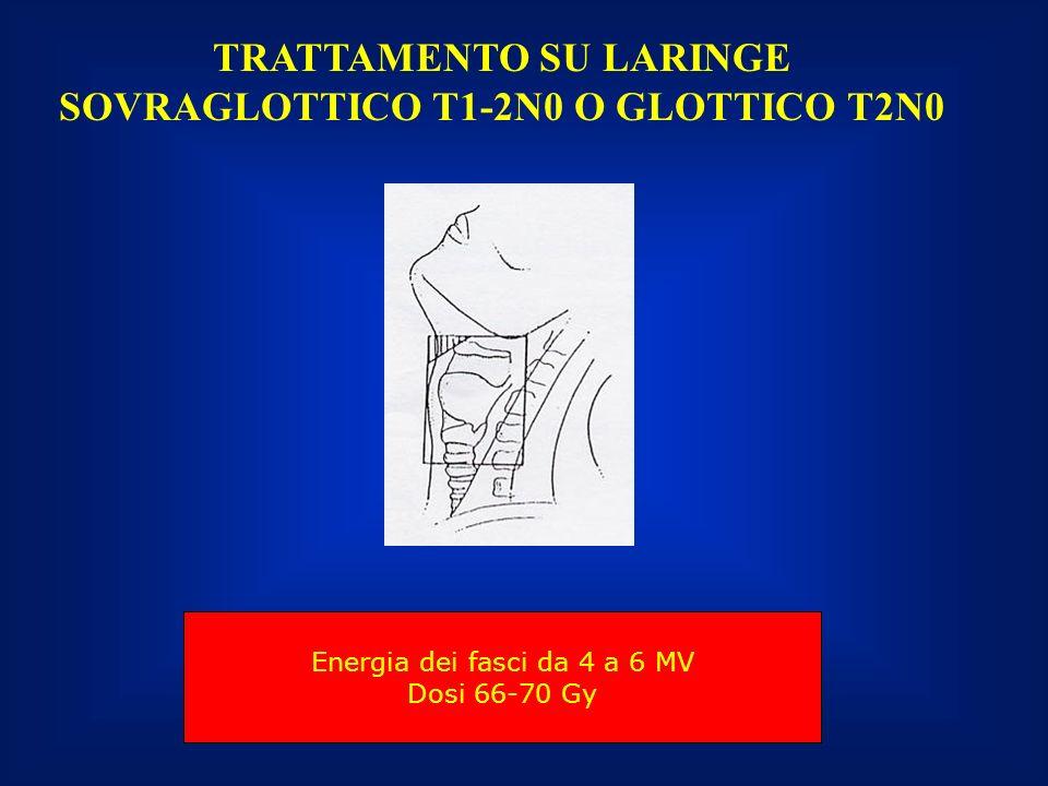 TRATTAMENTO SU LARINGE SOVRAGLOTTICO T1-2N0 O GLOTTICO T2N0