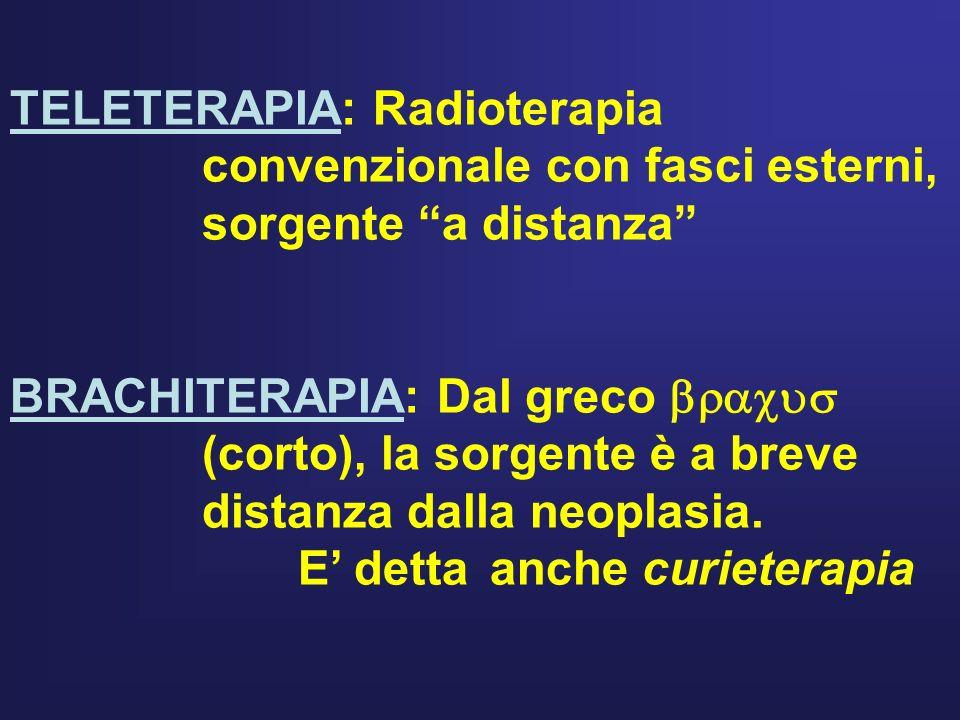TELETERAPIA: Radioterapia. convenzionale con fasci esterni,