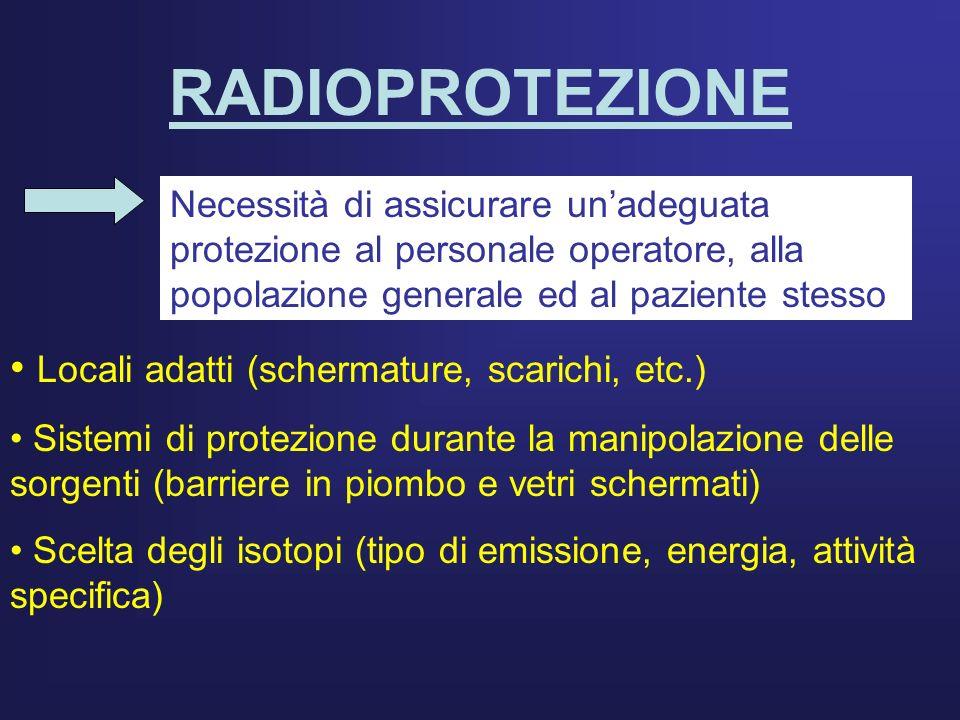 RADIOPROTEZIONE Locali adatti (schermature, scarichi, etc.)
