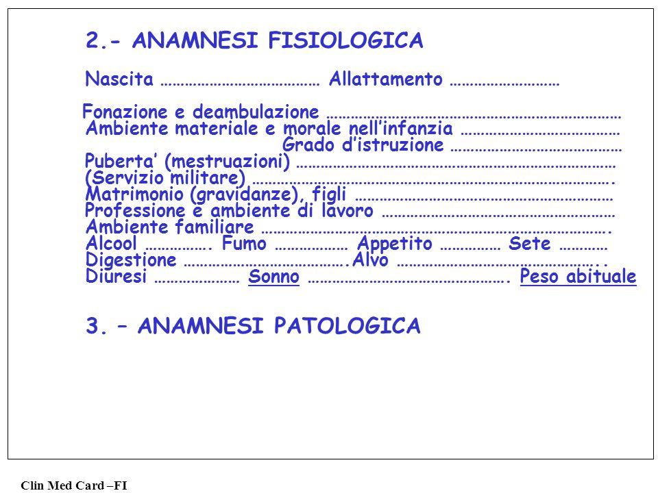 2.- ANAMNESI FISIOLOGICA
