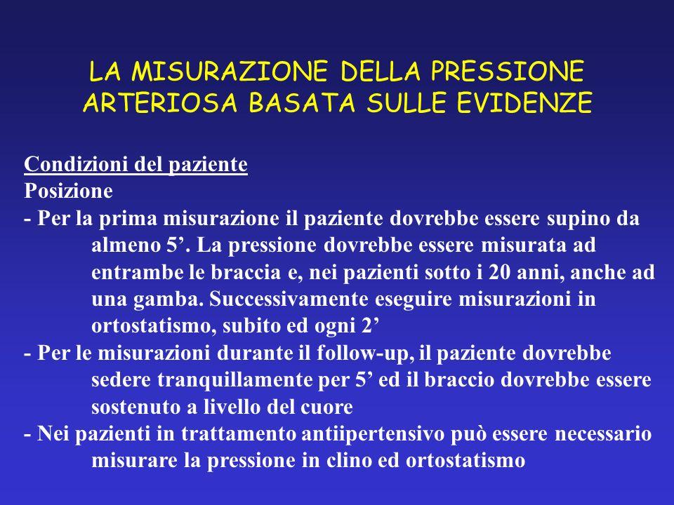 LA MISURAZIONE DELLA PRESSIONE ARTERIOSA BASATA SULLE EVIDENZE