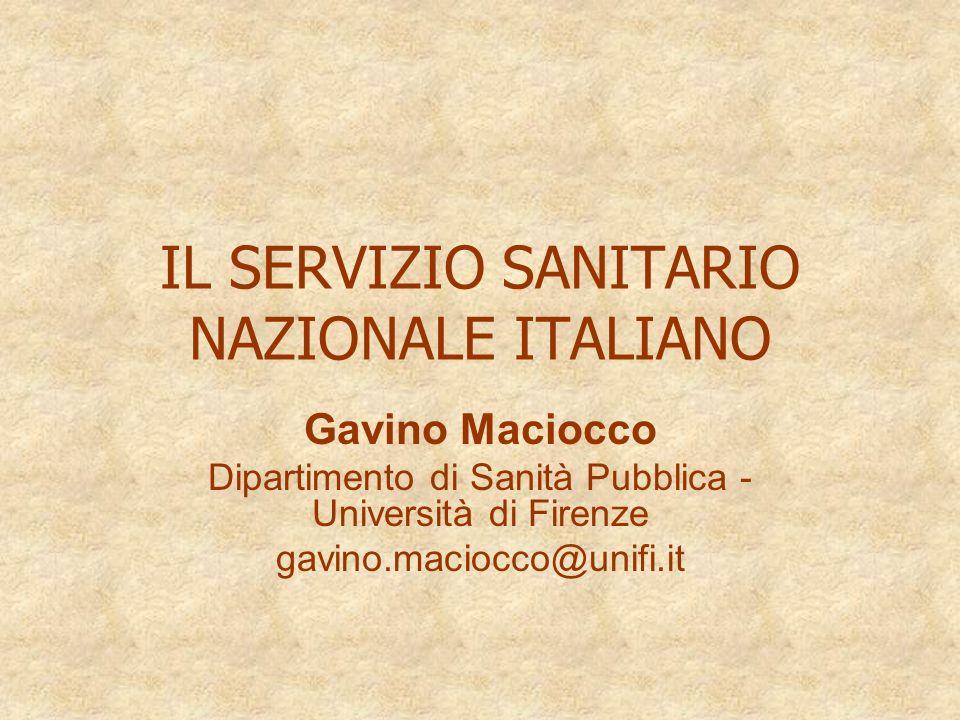 IL SERVIZIO SANITARIO NAZIONALE ITALIANO