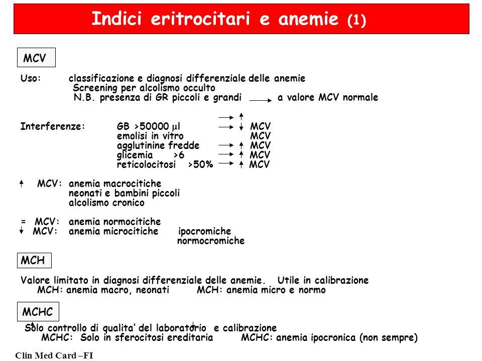 Indici eritrocitari e anemie (1)