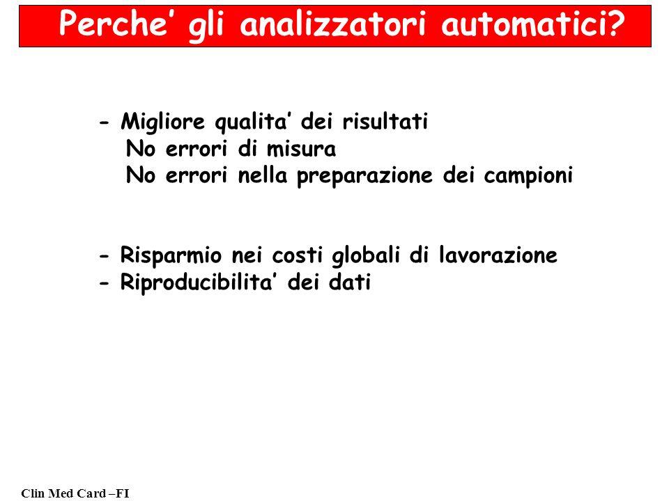 Perche' gli analizzatori automatici