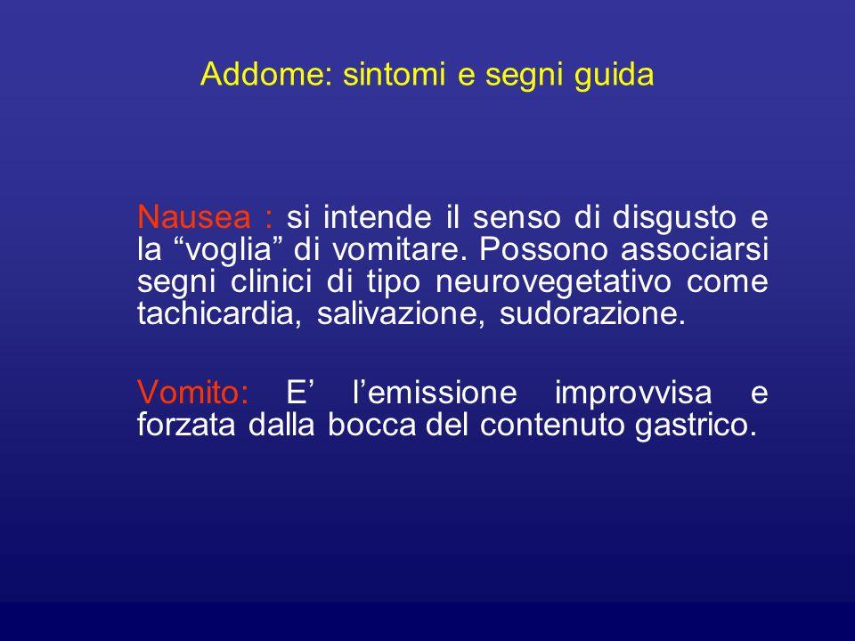 Addome: sintomi e segni guida