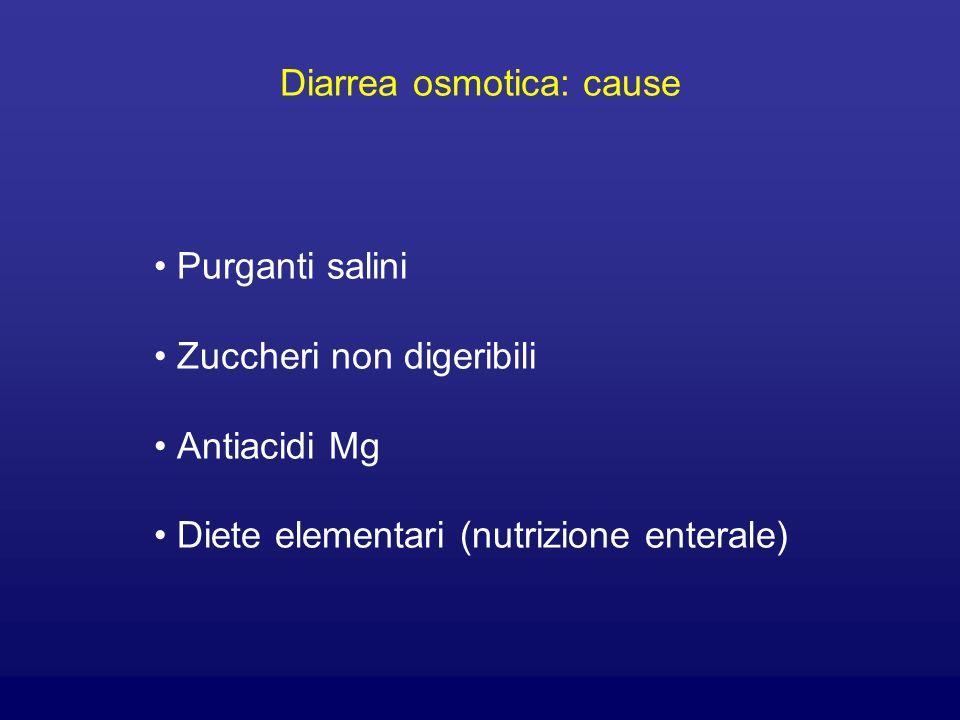 Diarrea osmotica: cause