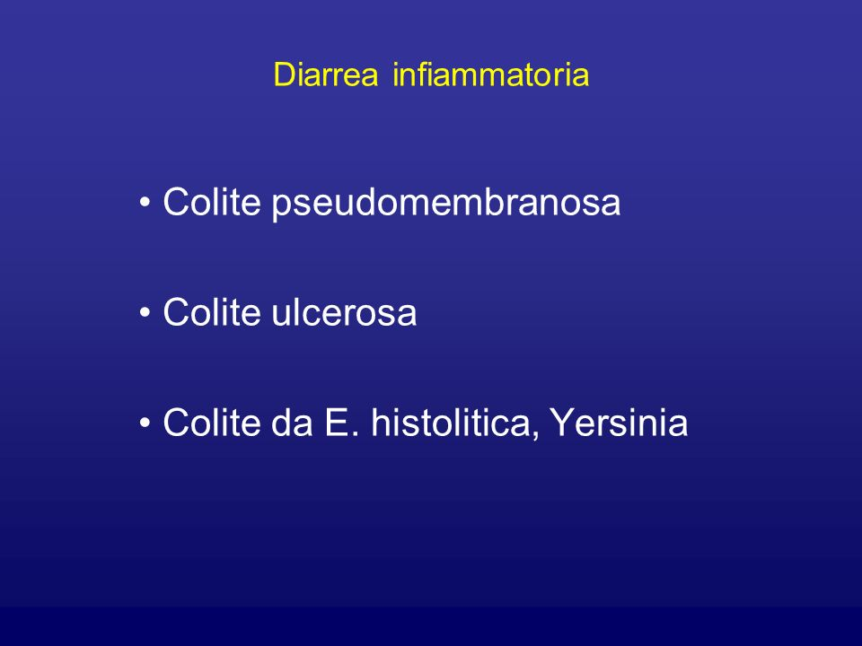 Diarrea infiammatoria
