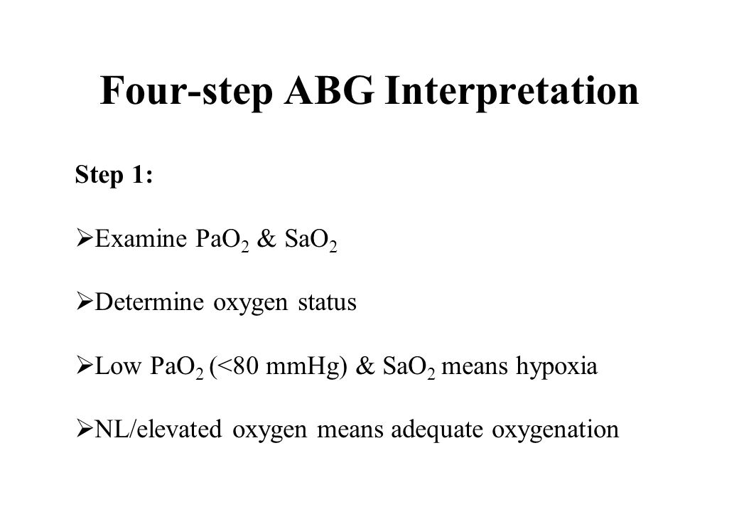 Four-step ABG Interpretation