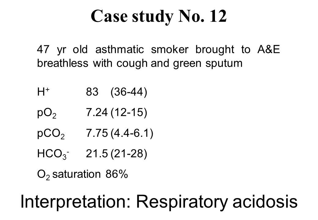 Interpretation: Respiratory acidosis