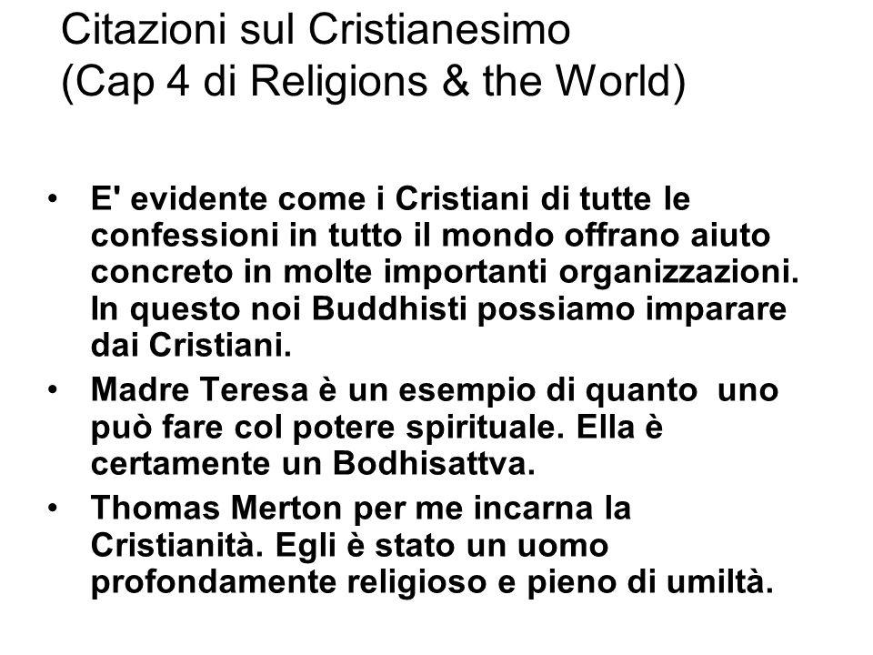 Citazioni sul Cristianesimo (Cap 4 di Religions & the World)