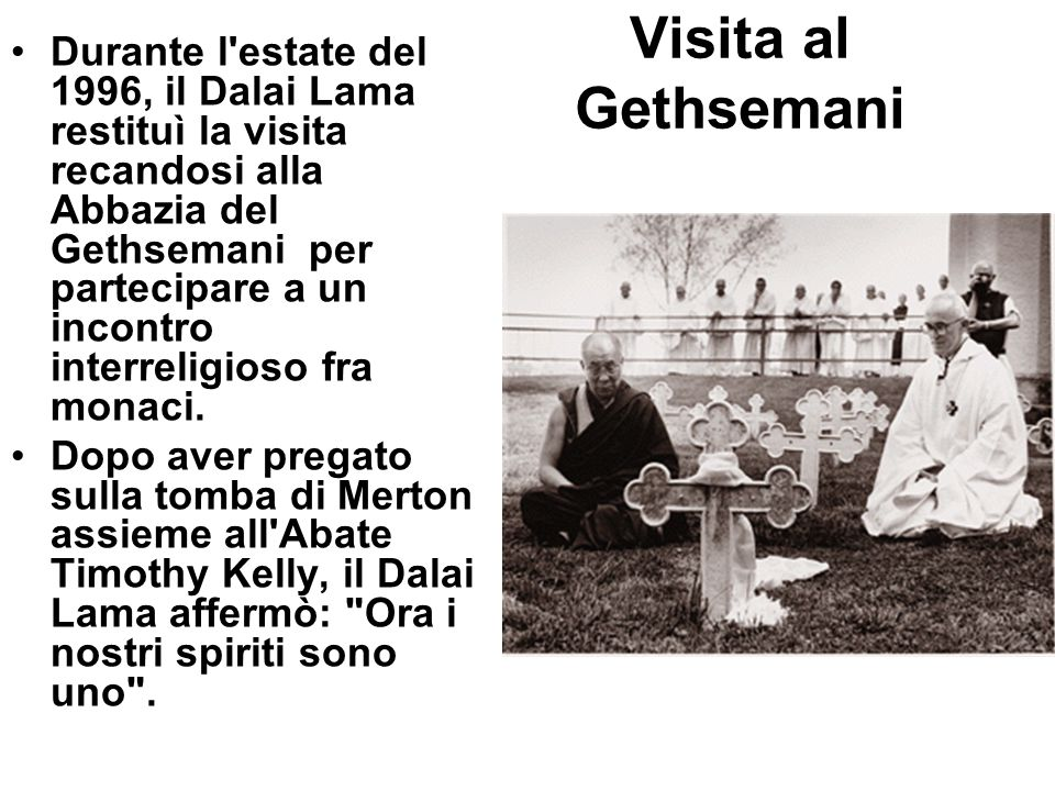 Visita al Gethsemani