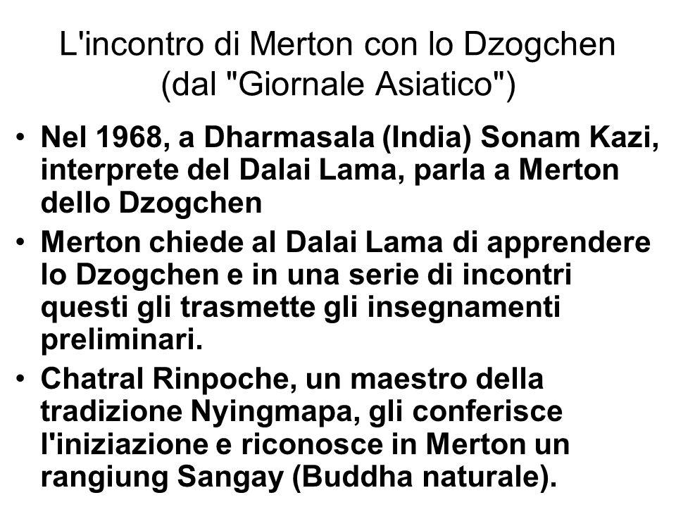 L incontro di Merton con lo Dzogchen (dal Giornale Asiatico )