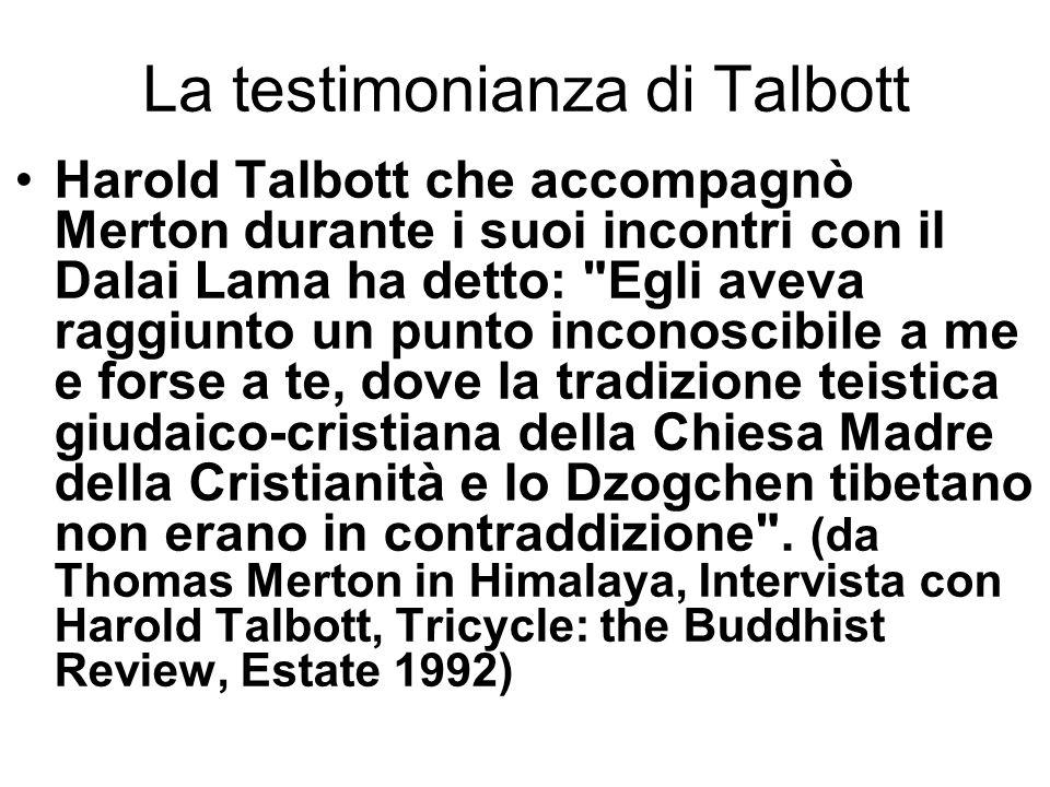 La testimonianza di Talbott