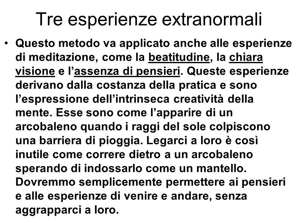Tre esperienze extranormali