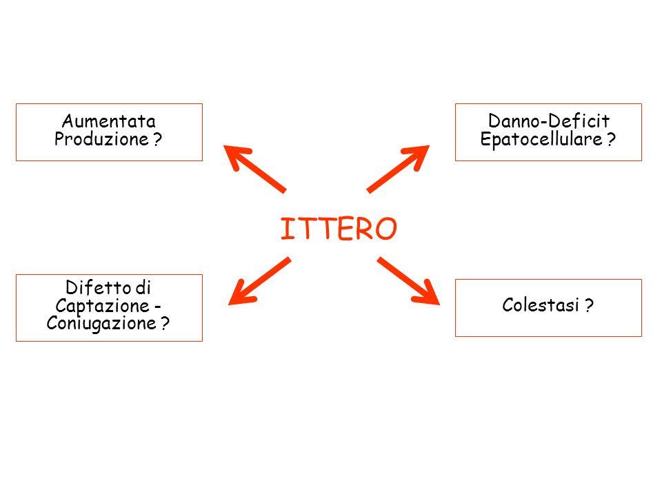 ITTERO Aumentata Produzione Danno-Deficit Epatocellulare