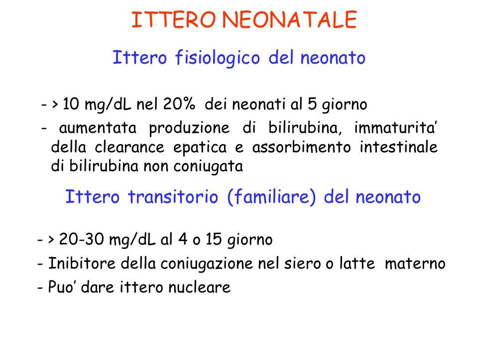 ITTERO NEONATALE Ittero fisiologico del neonato