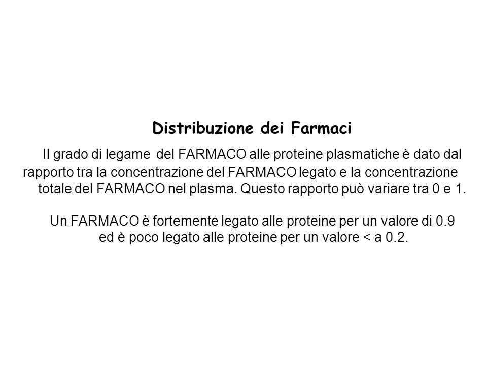 Distribuzione dei Farmaci