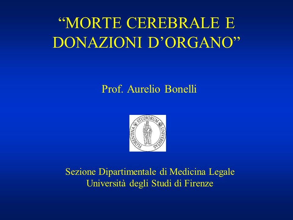 MORTE CEREBRALE E DONAZIONI D'ORGANO