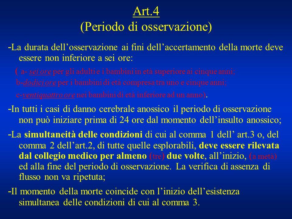 Art.4 (Periodo di osservazione)