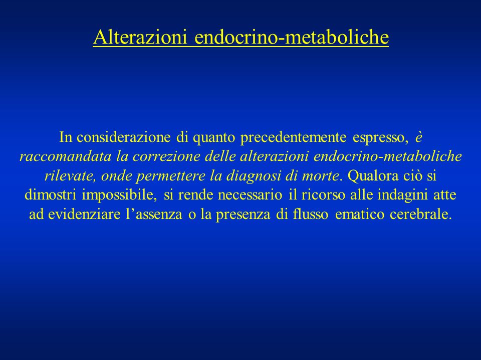 Alterazioni endocrino-metaboliche