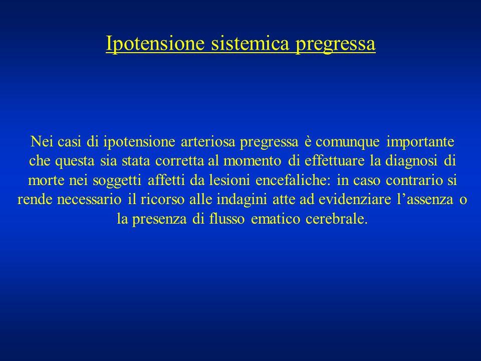 Ipotensione sistemica pregressa