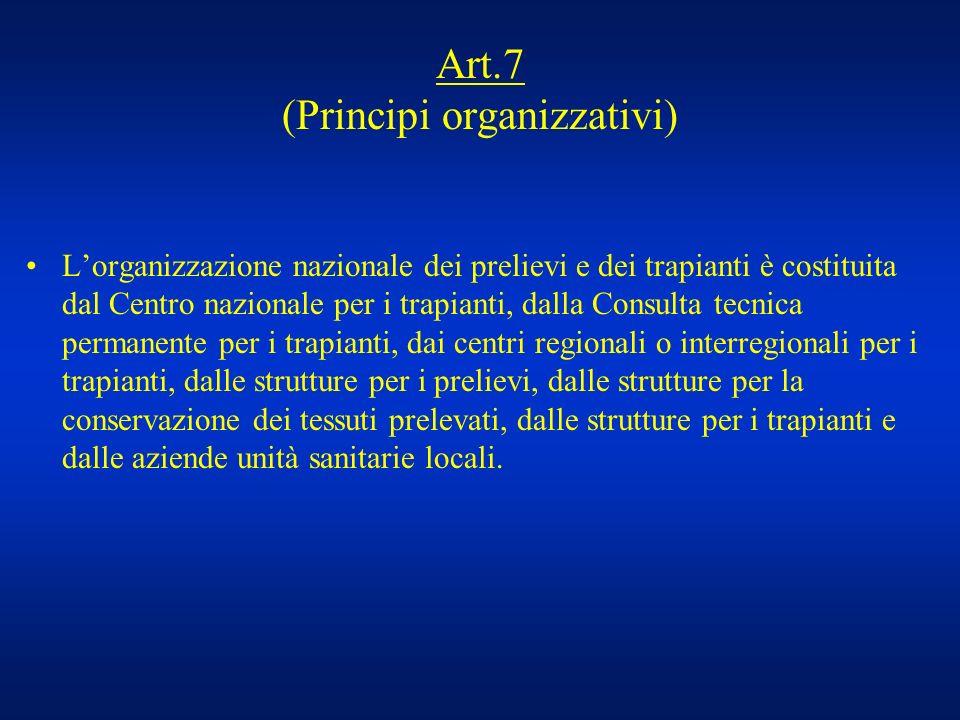 Art.7 (Principi organizzativi)
