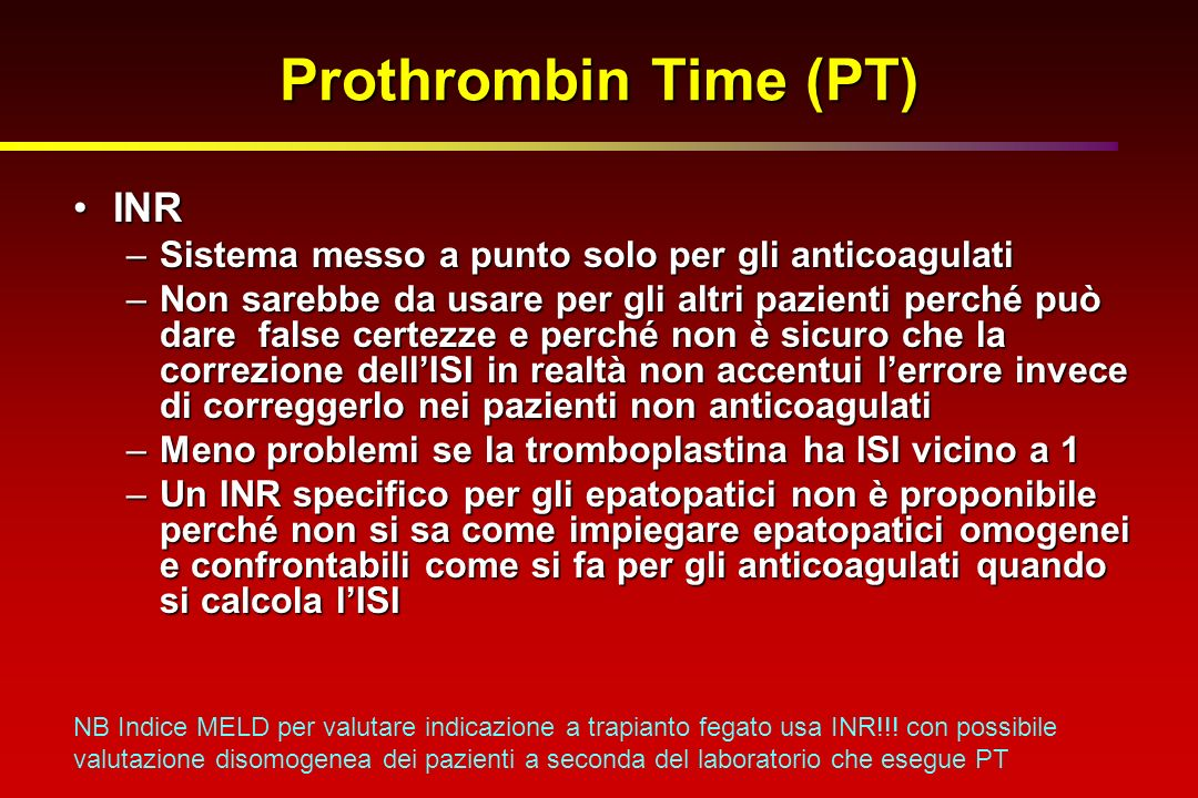 Prothrombin Time (PT) INR