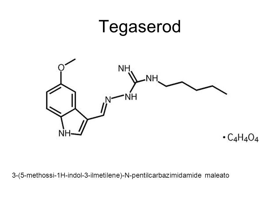 Tegaserod 3-(5-methossi-1H-indol-3-ilmetilene)-N-pentilcarbazimidamide maleato