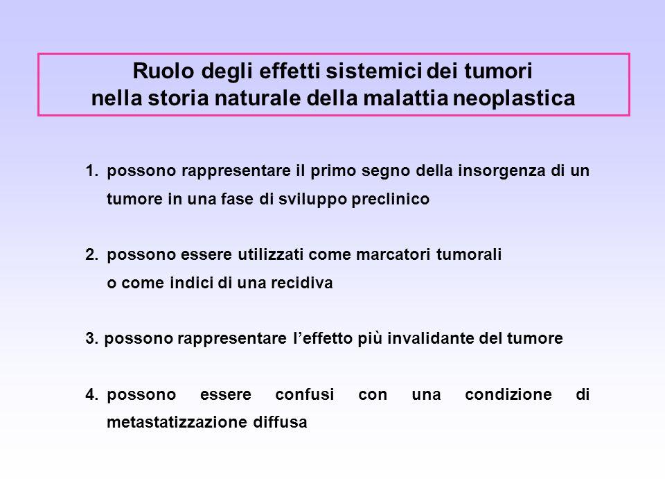 Ruolo degli effetti sistemici dei tumori