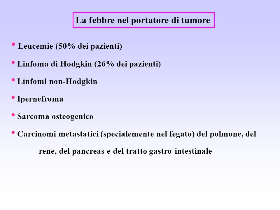 La febbre nel portatore di tumore