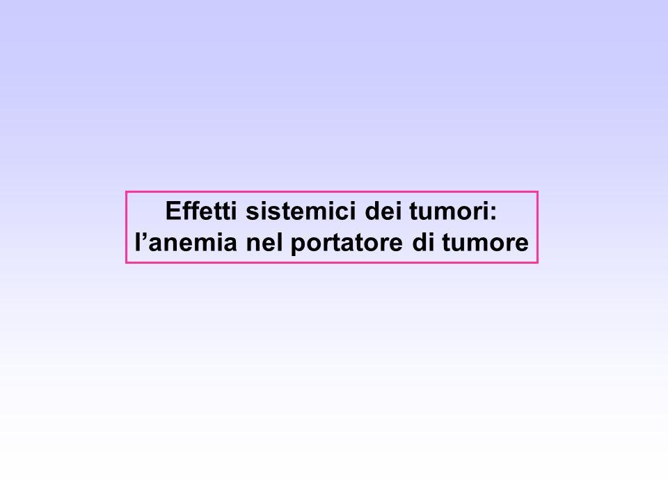Effetti sistemici dei tumori: l'anemia nel portatore di tumore