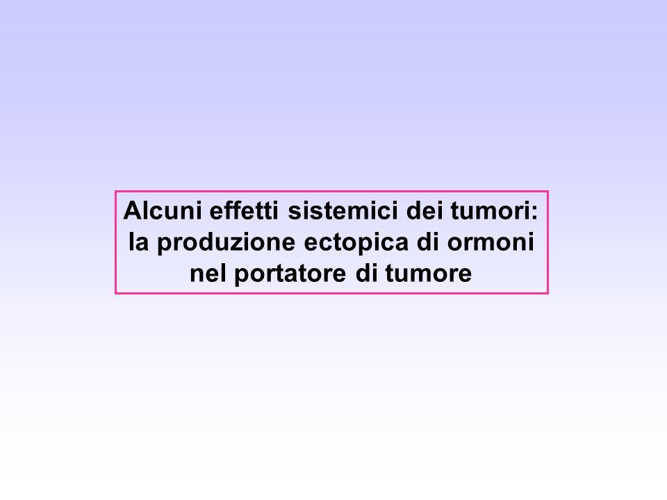 Alcuni effetti sistemici dei tumori: la produzione ectopica di ormoni