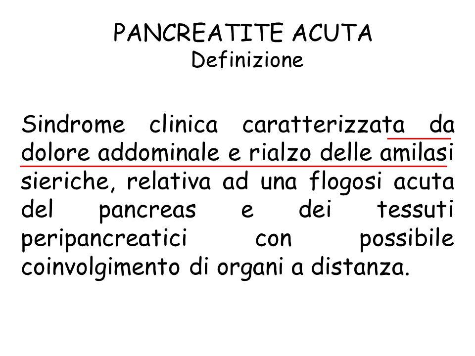PANCREATITE ACUTA Definizione.