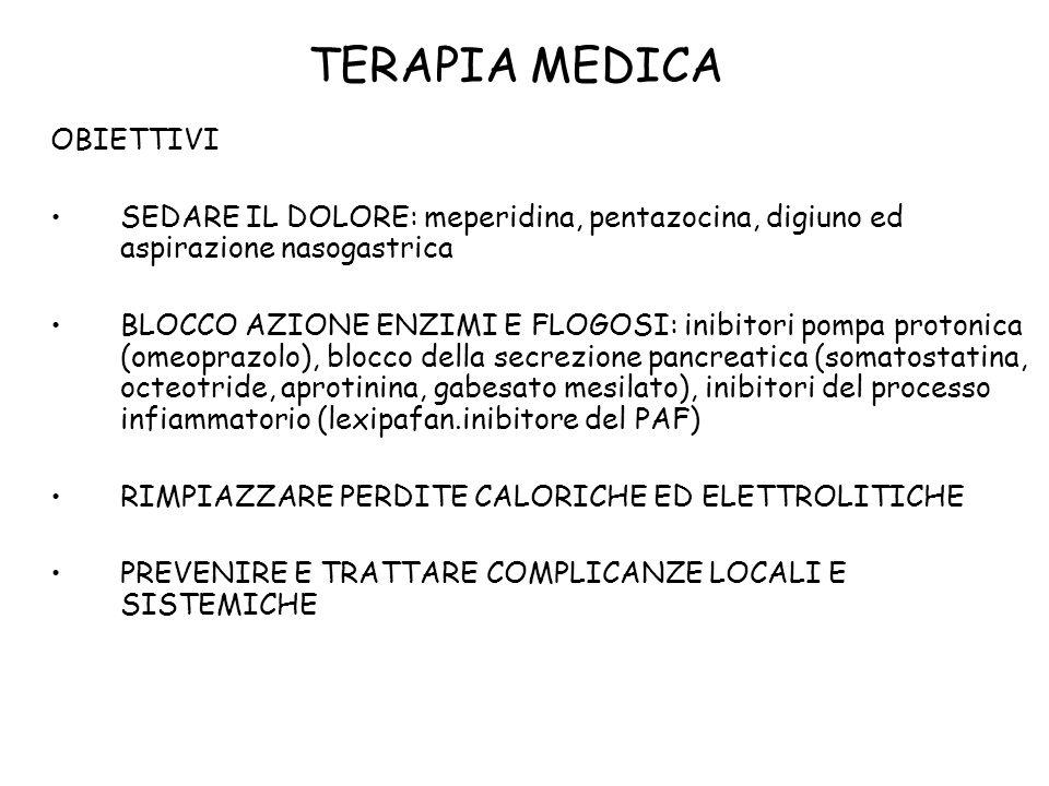 TERAPIA MEDICA OBIETTIVI