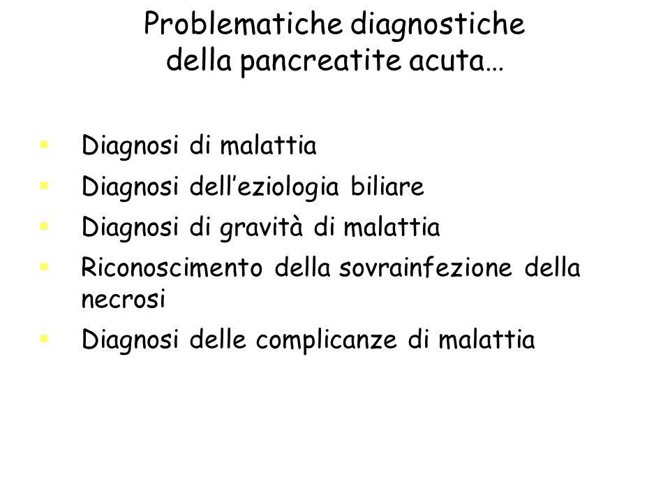 Problematiche diagnostiche della pancreatite acuta…