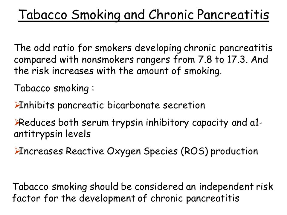 Tabacco Smoking and Chronic Pancreatitis