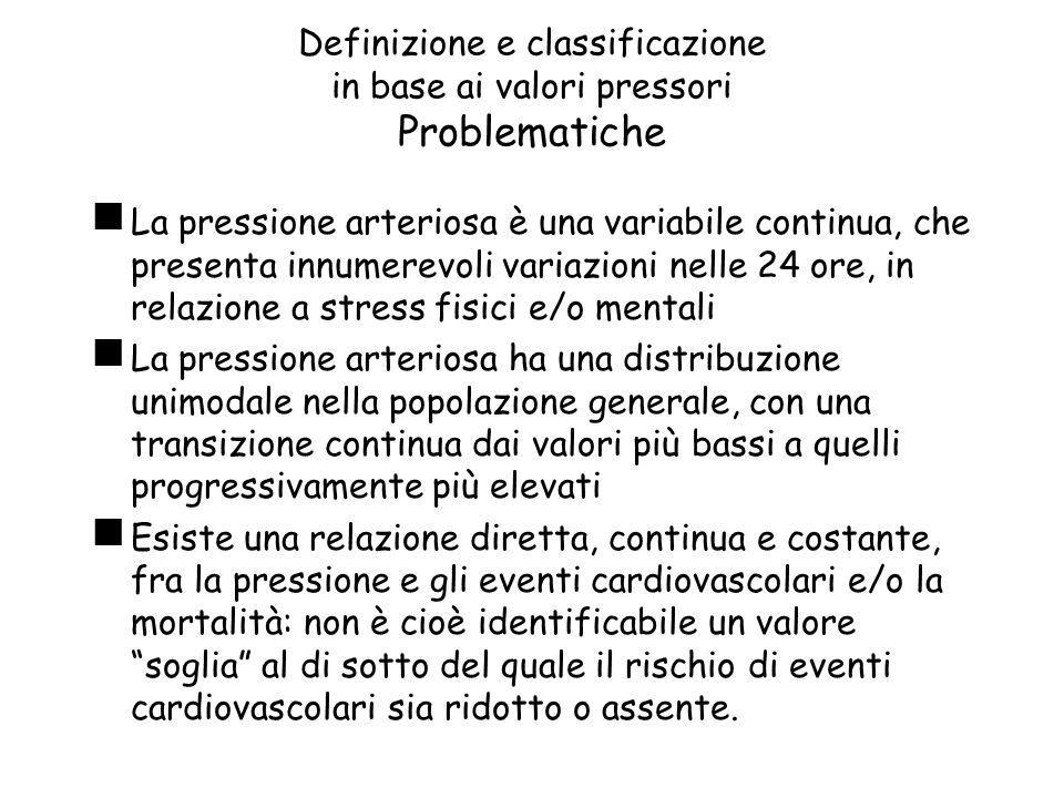 Definizione e classificazione in base ai valori pressori Problematiche