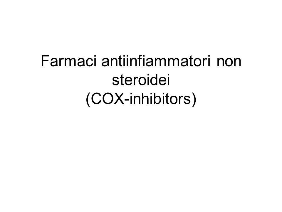 Farmaci antiinfiammatori non steroidei (COX-inhibitors)