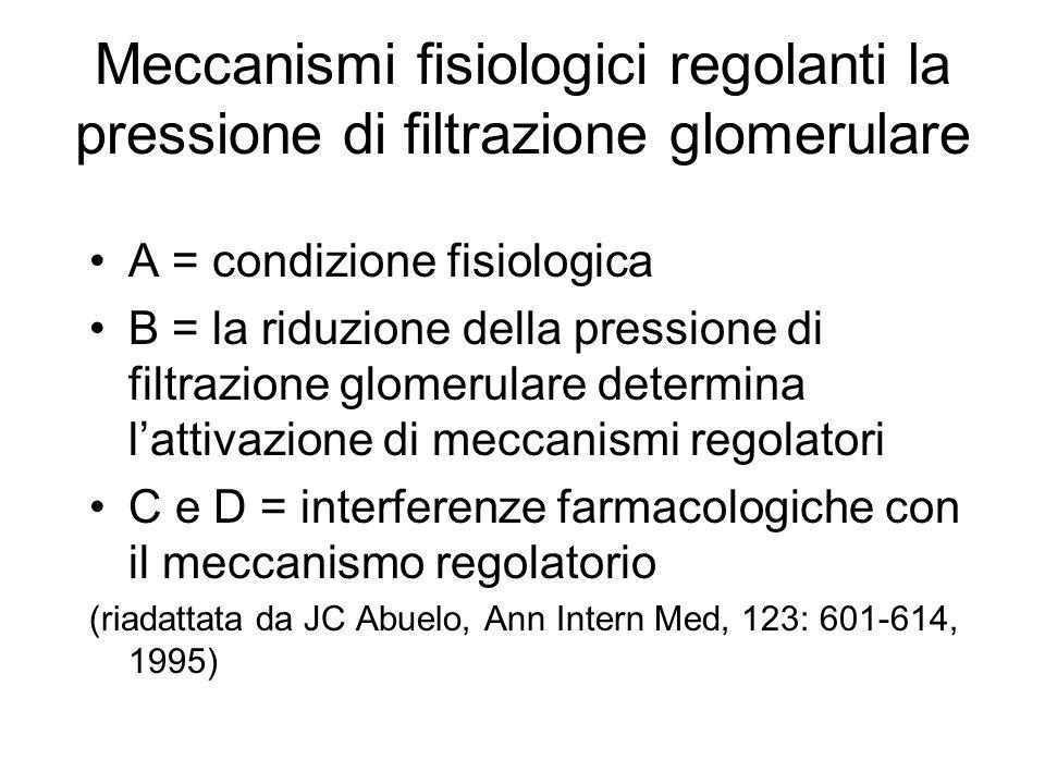 Meccanismi fisiologici regolanti la pressione di filtrazione glomerulare