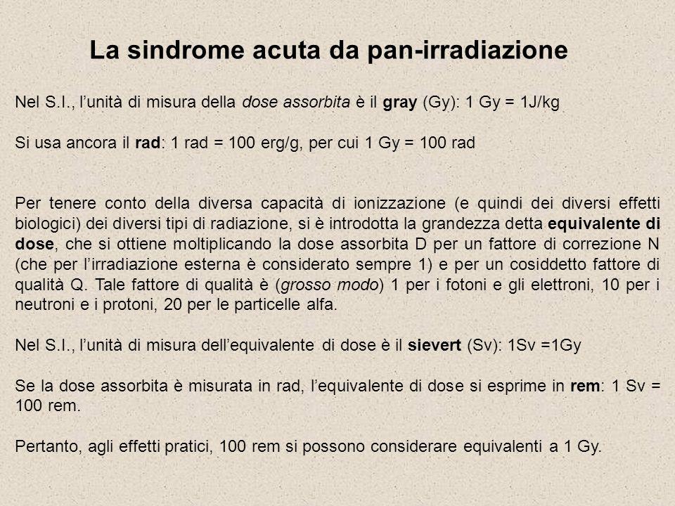 La sindrome acuta da pan-irradiazione