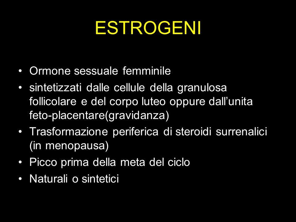 ESTROGENI Ormone sessuale femminile