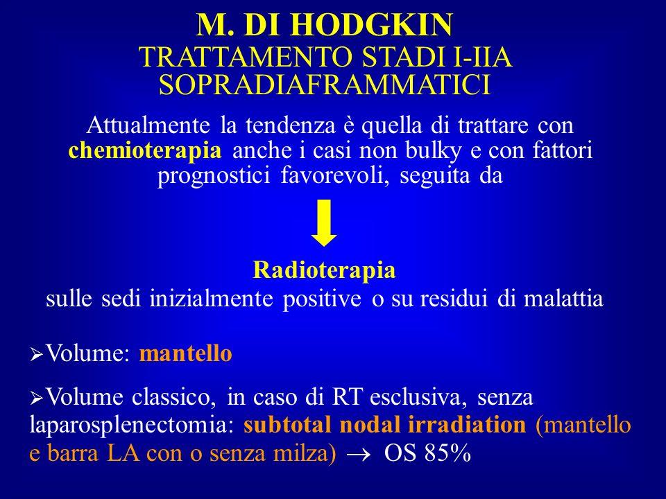 M. DI HODGKIN TRATTAMENTO STADI I-IIA SOPRADIAFRAMMATICI