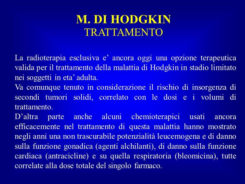 M. DI HODGKIN TRATTAMENTO